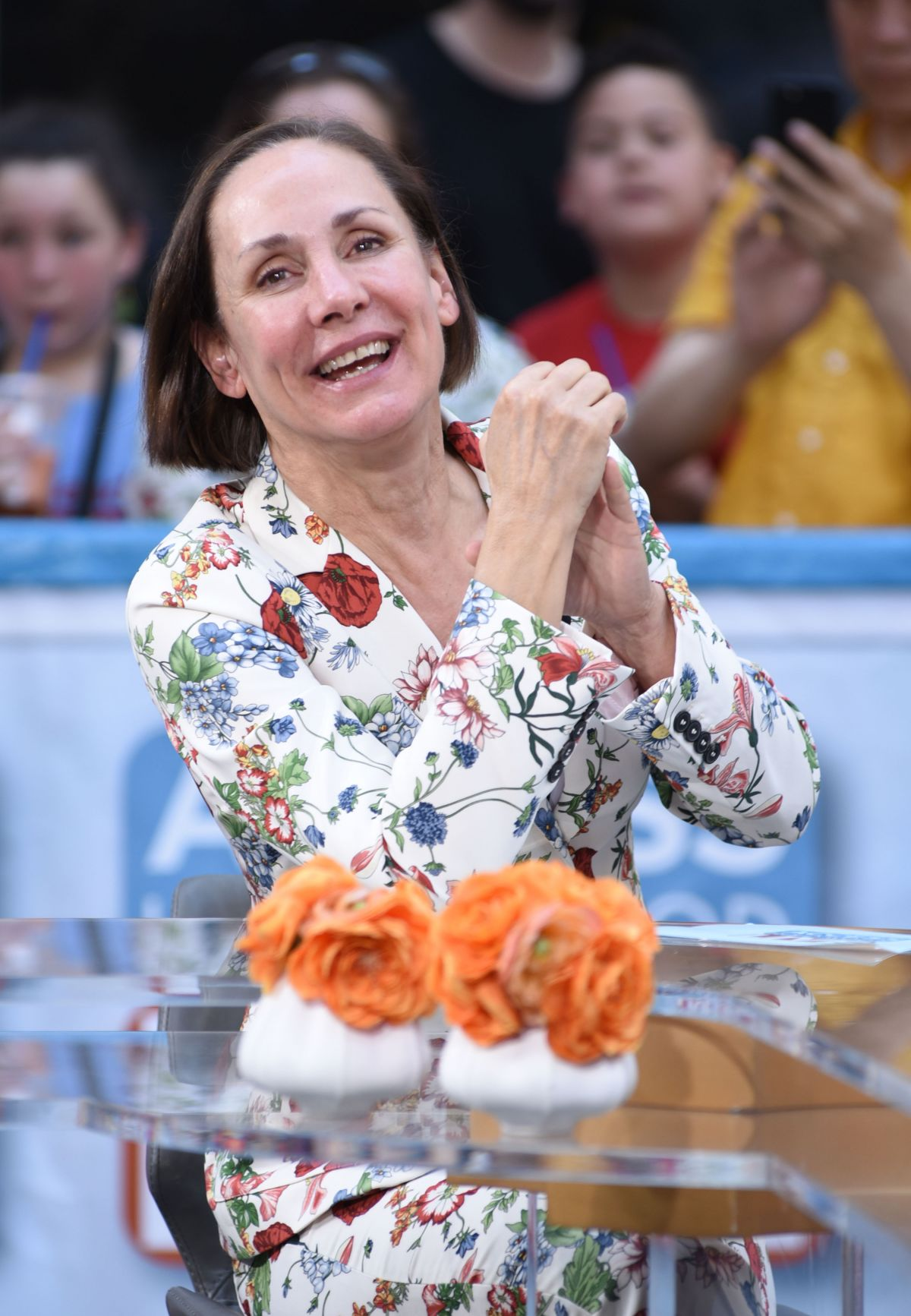 LAURIE METCALF on the Set of Access Hollywood in New York 05/17/2017