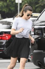 LEA MICHELE at a Gas Station in Los Angeles 05/29/2017
