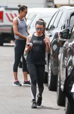 LEA MICHELE Leaves a Gym in Santa Monica 05/26/2017