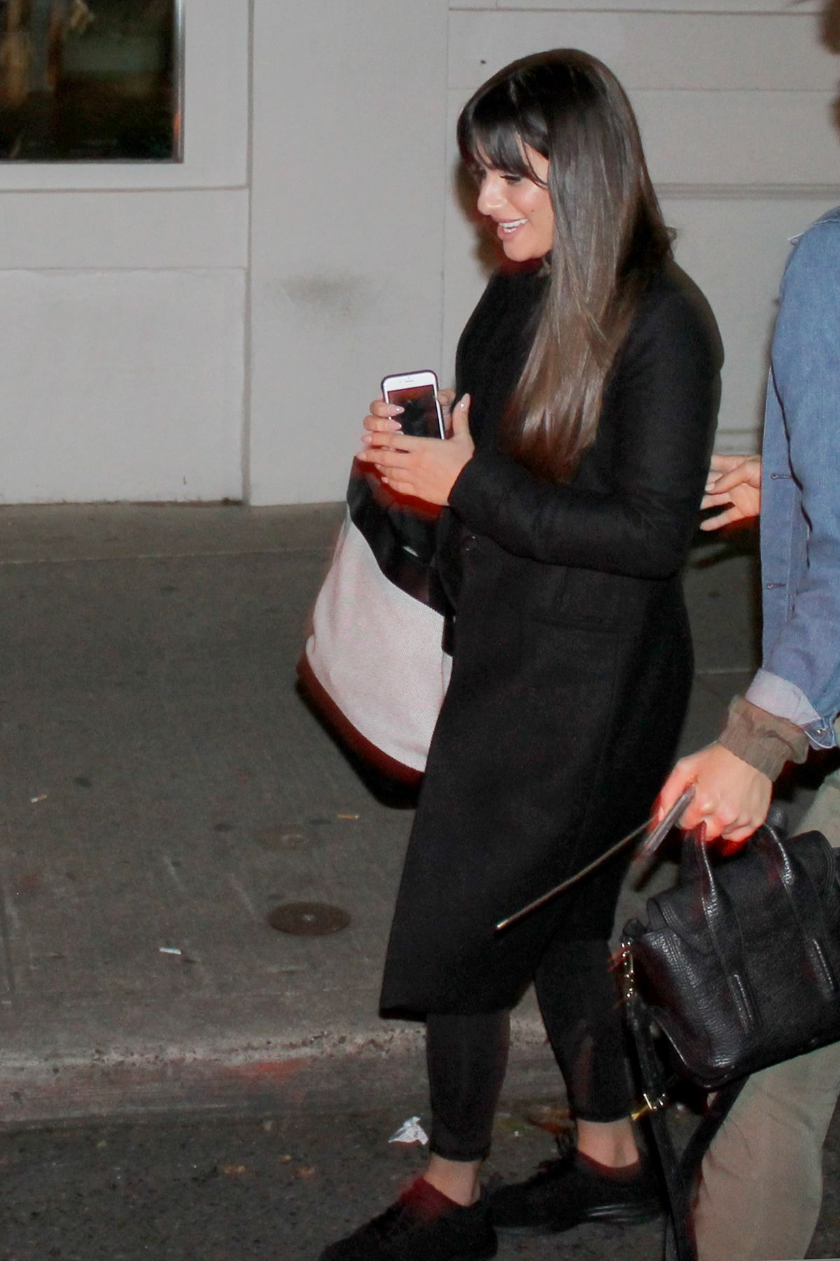 LEA MICHELE Out for Dinner in Seattle 05/08/2017