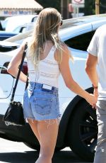 LEANN RIMES in Denim Shorts at Nobu in Malibu 05/20/2017