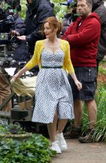 LESLIE MANN on the Set of The Pact in Atlanta 05/05/2017