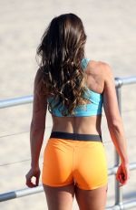 LIBBY BABET on the Set of a Photoshoot at Bondi Beach in Sydney 05/30/2017