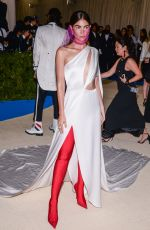 LILY ALDRIDGE at 2017 MET Gala in New York 05/01/2017