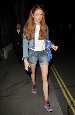 LILY COLE Leaves Trafalgar Studios in London 05/27/2017
