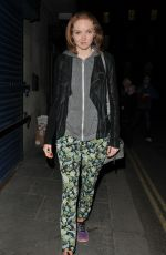 LILY COLE Out and About in London 05/12/2017