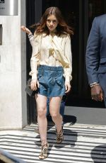 LILY COLLINS Arrives at BBC Radio 2 Studio in London 05/26/2017