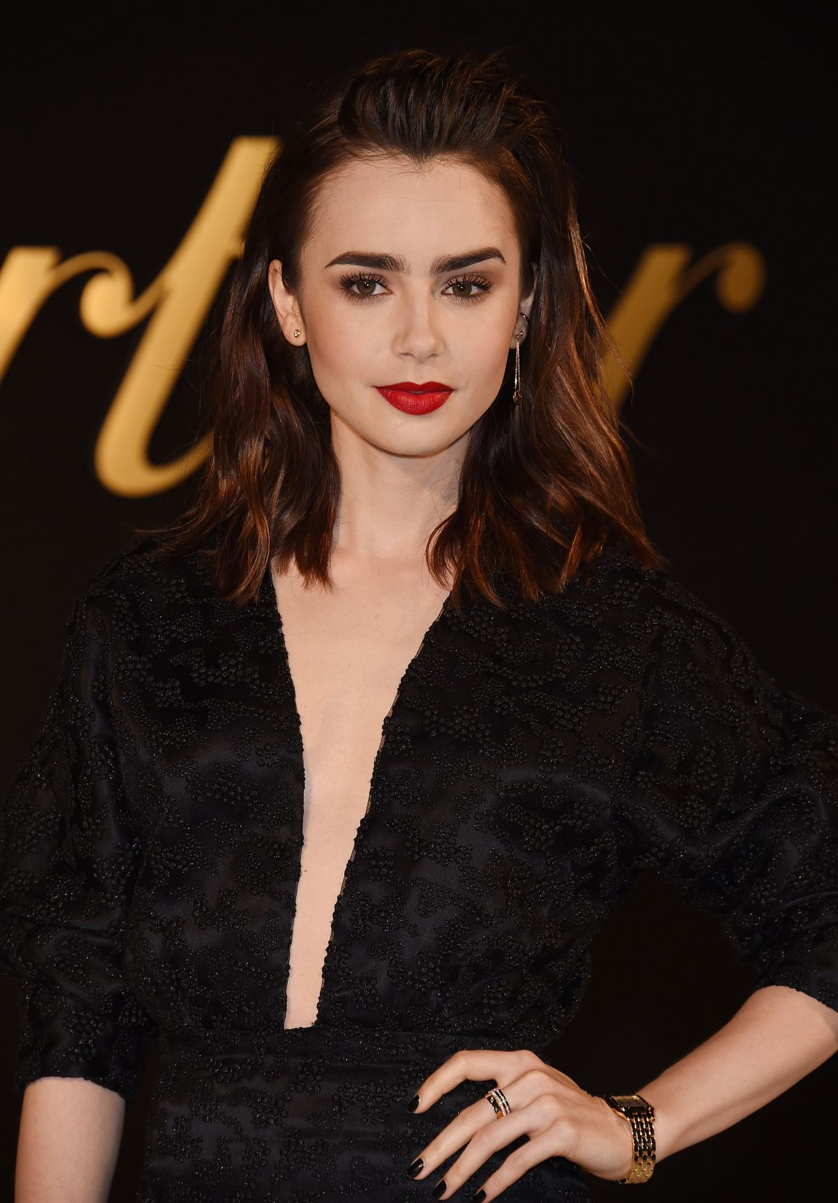 LILY COLLINS at Panthe...