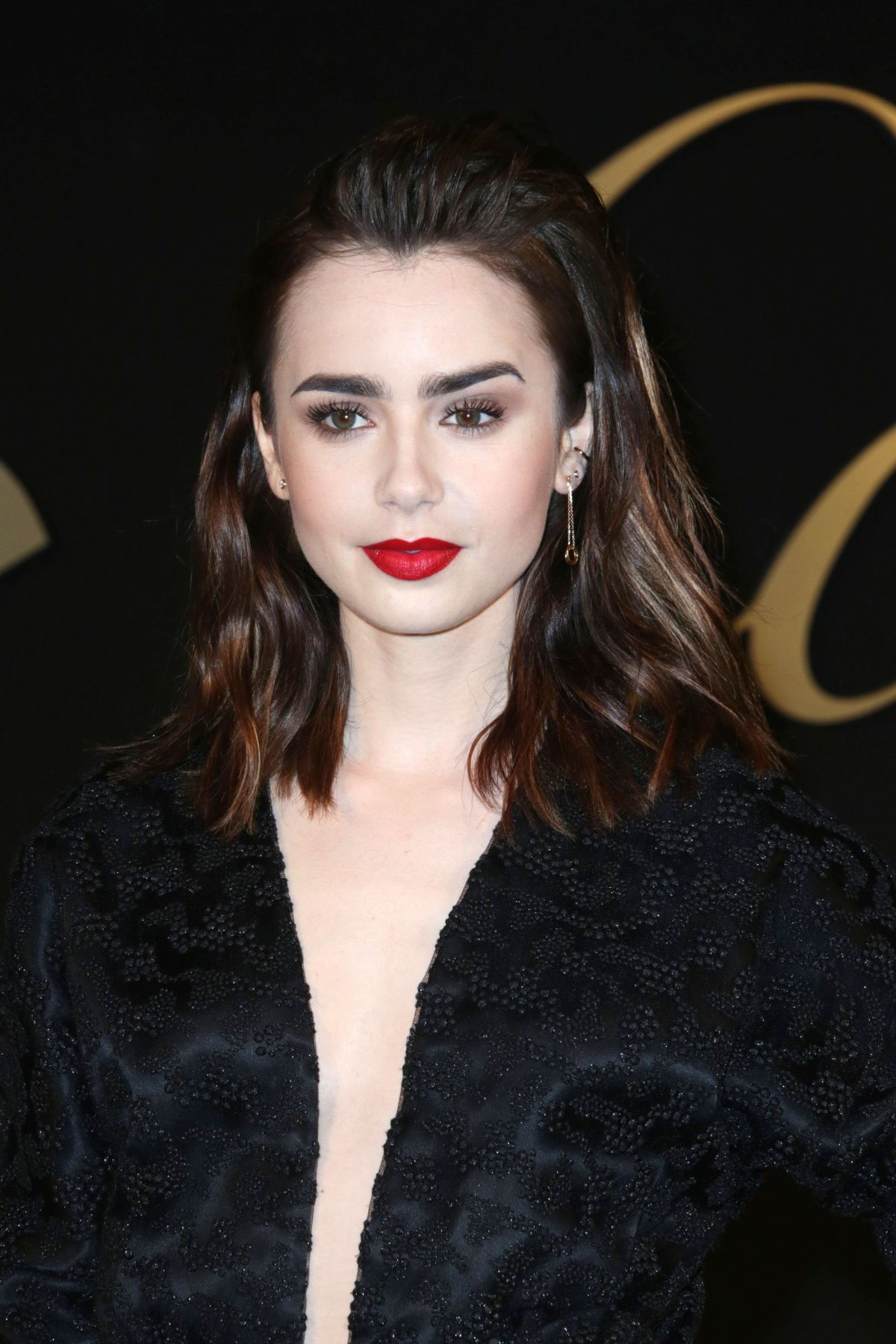 Lily collins panthere de cartier watch launch in la - 2019 year