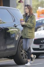 LILY COLLINS Leaves a Coffee Bean in Los Angeles 05/11/2017