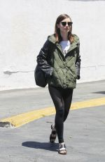 LILY COLLINS Leaves a Wax Salon in Beverly Hills 05/14/2017