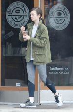 LILY COLLINS Leaves Coffee Bean in Bevrly Hills 05/15/2017
