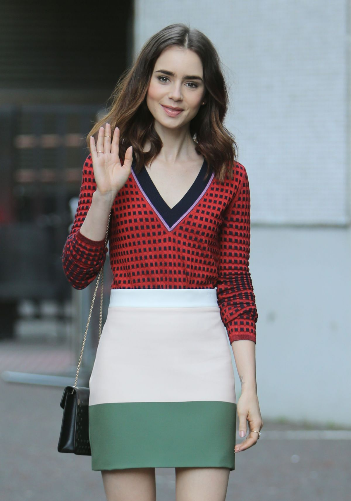 LILY COLLINS Leaves ITV Studio in London 05/25/2017