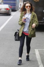 LILY COLLINS Out and About in Beverly Hills 05/30/2017