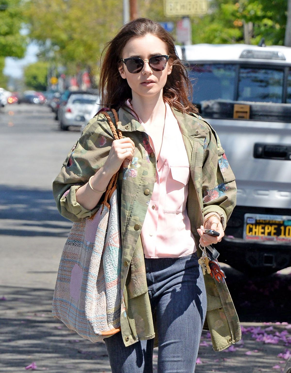 LILY COLLINS Out and About in West Hollywood 05/13/2017