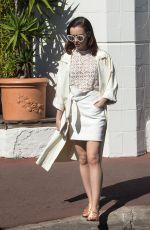 LILY COLLINS Out at Croisette in Cannes 05/20/2017
