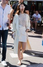 LILY COLLINS Out at Croisette in Cannes 05/21/2017