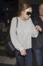 LILY-RESE DEPP Arrives at Airport in Nice 05/15/2017