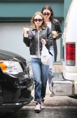 LILY-ROSE DEPP in a Leather Biker Jacket Out in New York 05/01/2017