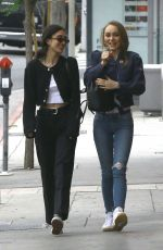 LILY-ROSE DEPP Out for Lunch in Los Angeles 05/25/2017