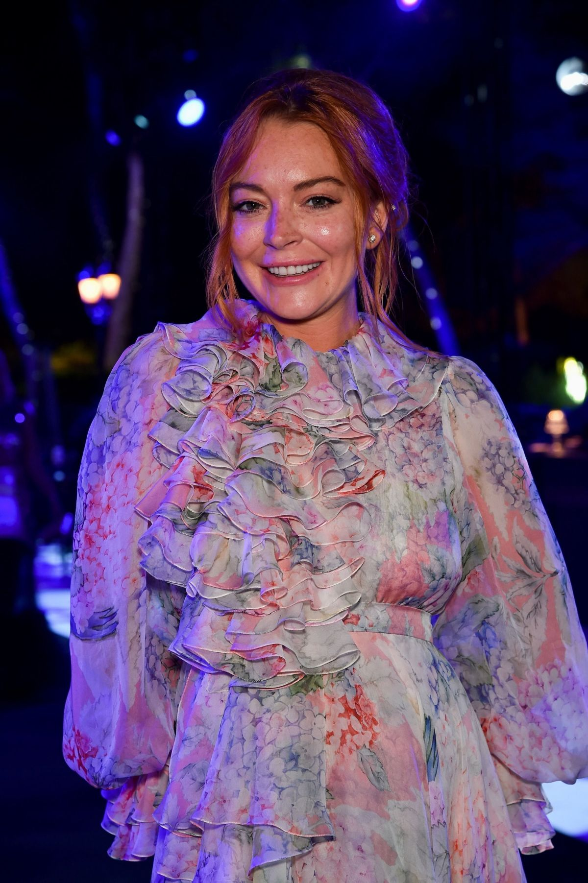 LINDSAY LOHAN at Love on the Rocks Photocall Party at Eden Roc in Antibes 05/23/2017