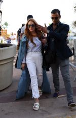 LINDSAY LOHAN Out and About in Cannes 05/22/2017