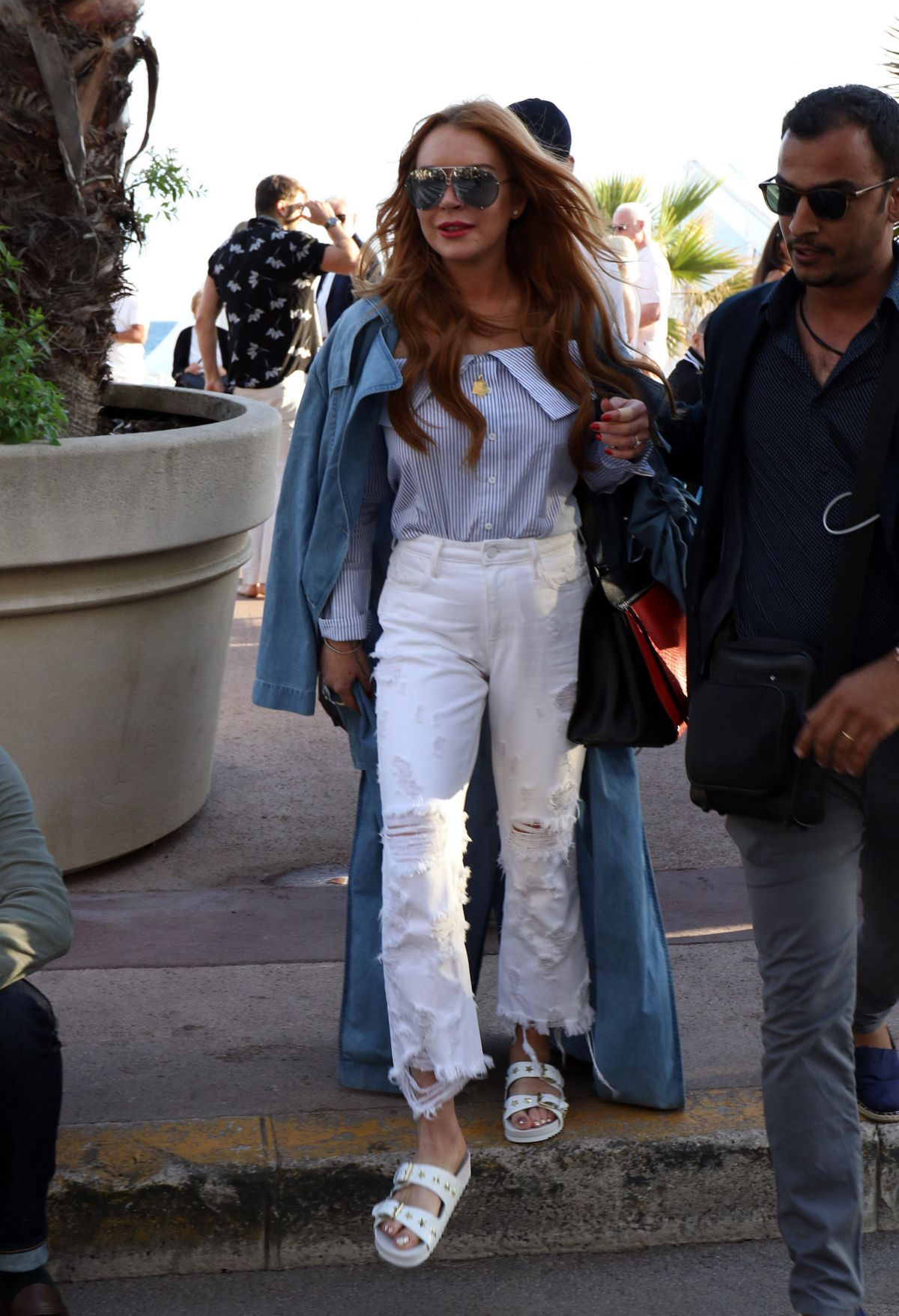 LINDSAY LOHAN Out and About in Cannes 05/22/2017 ... Lindsay Lohan 2017