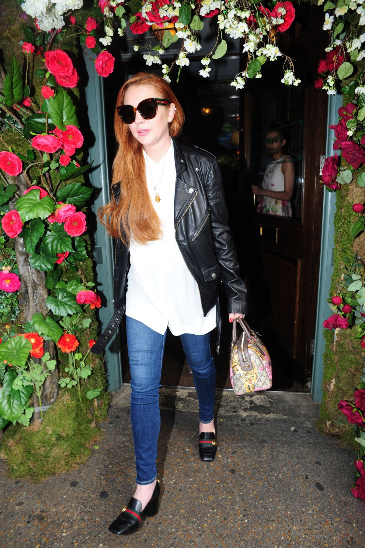 LINDSAY LOHAN Out and About in London 05/16/2017