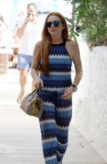 LINDSAY LOHAN Out in Mykonos 04/29/2017