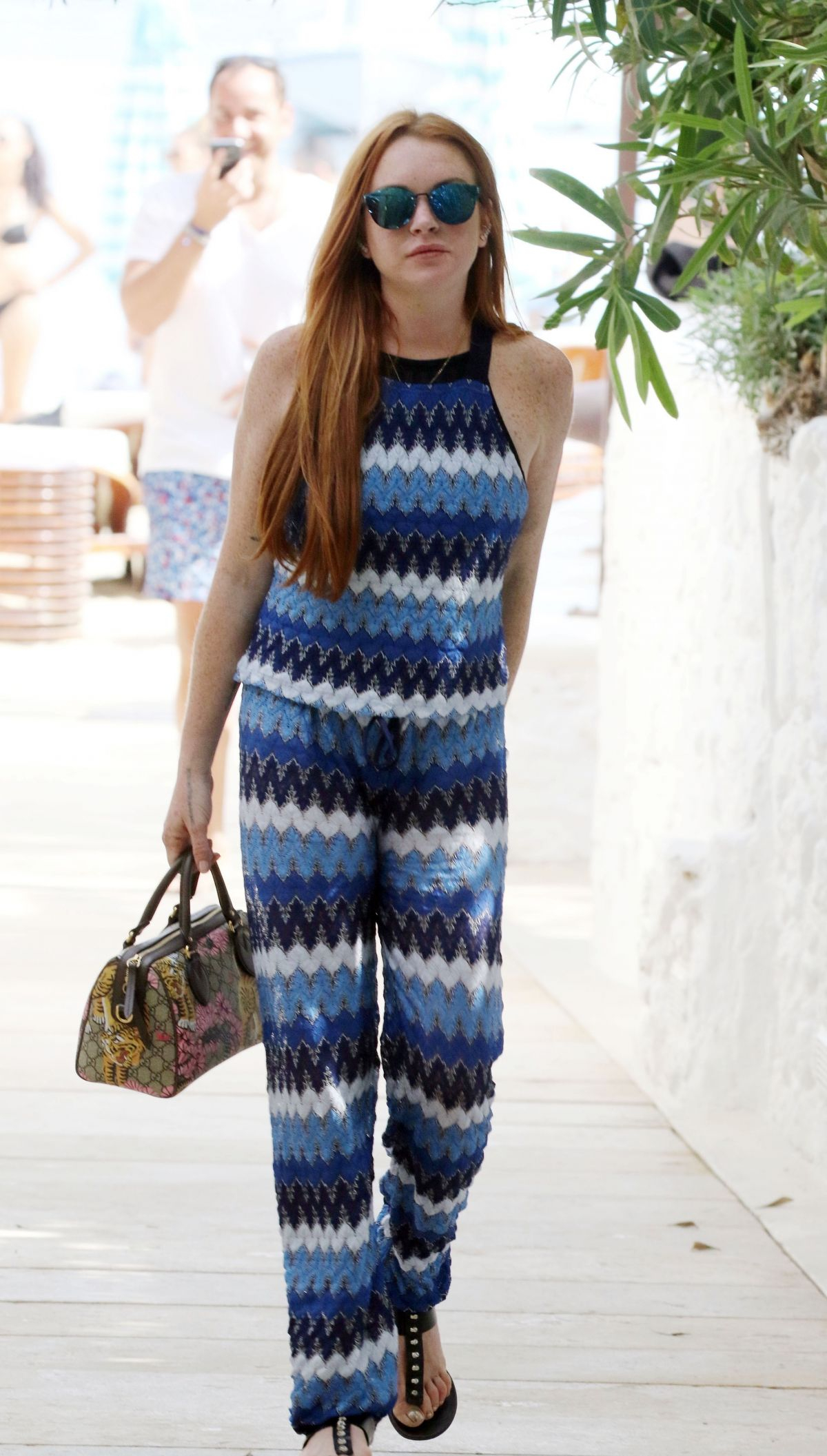 LINDSAY LOHAN Out in M...