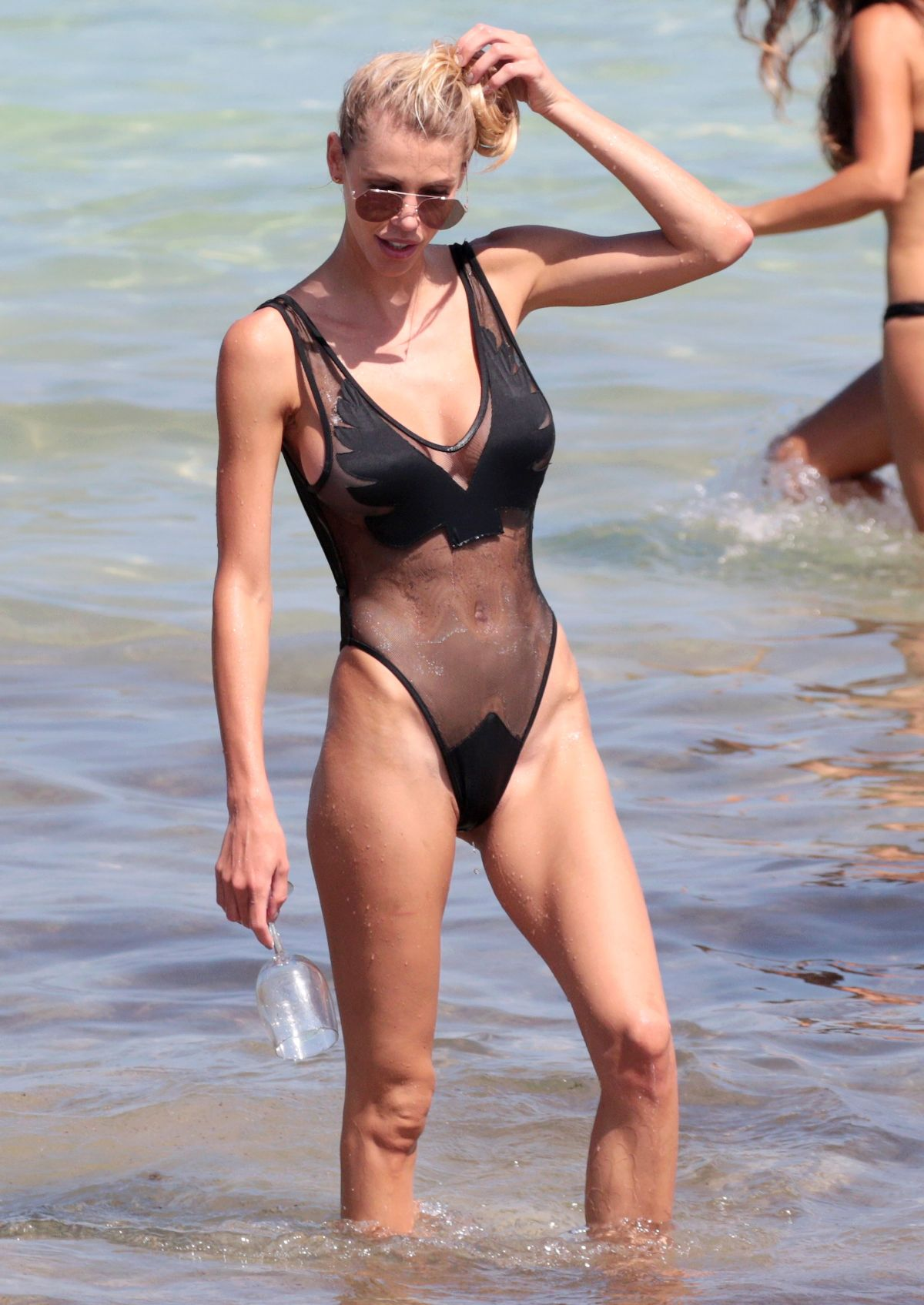 LISA HOCHSTEIN in Swimsuit on the Beach in Miami 05/27/2017