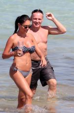 LISA HOCHSTEIN in Swimsuit on the Beach in Miami 05/27/2017