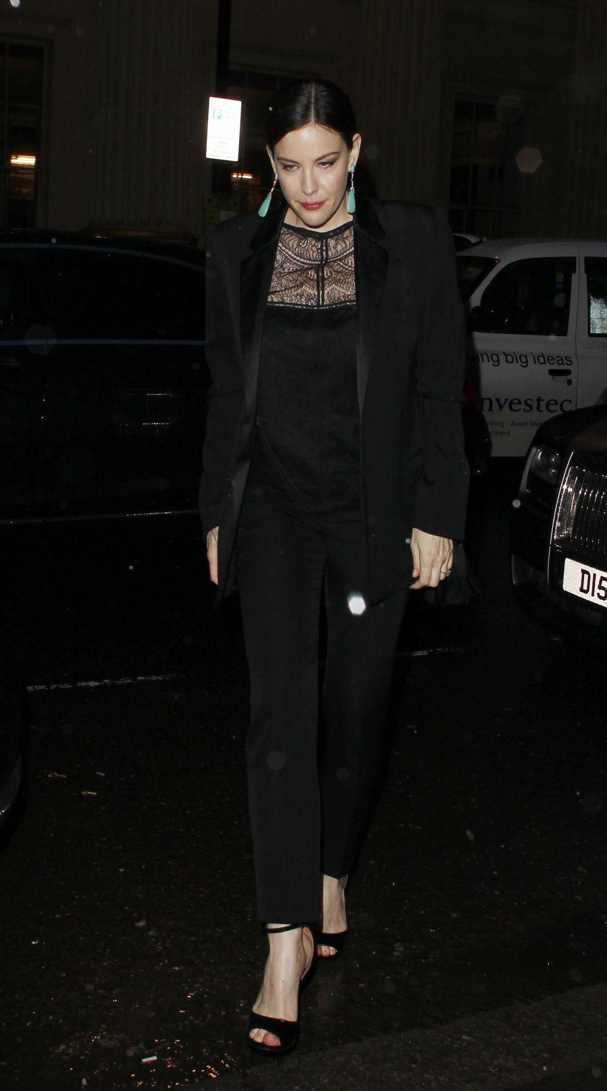 LIV TYLER Leaves Ara Vartanian x Kate Moss Launch Party in London 05/17/