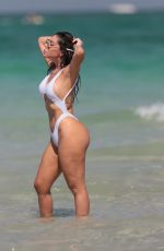 LIZIANE GUTIERREZ in Bikini on the Beach in Miami 05/29/2017
