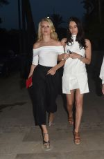 LOTTIE MOSS and EMILY BLACKWELL Night Out in Marbella 05/26/2017