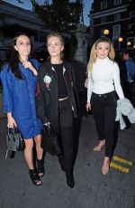 LOTTIE MOSS Out with Friends at Bluebird in London 05/08/2017