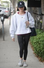 LUCY HALE Heading to a Gym in Los Angeles 05/11/2017