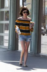 LUCY HALE Leaves a Starbucks in Los Angeles 05/23/2017
