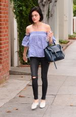 LUCY HALE Out for a Morning Coffee in West Hollywood 05/26/2017