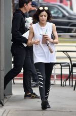 LUCY HALE Out for Iced Coffee at Starbucks in Studio City 05/30/2017