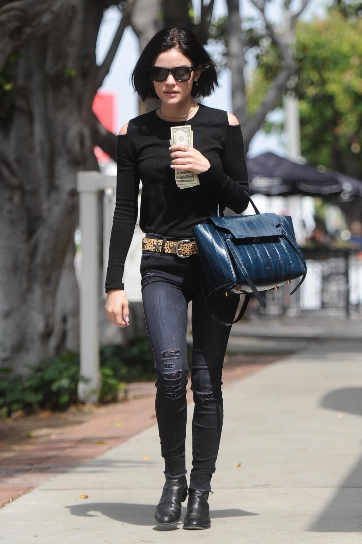 LUCY HALE Out Shopping on Melrose Place in Los Angeles 05/09/2017