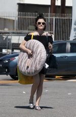 LUCY HALE Picks Up Large Bed for Her Dog in Los Angeles 05/04/2017