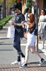 MADELAINE PETSC Out at The Grove in Hollwyood 05/29/2017