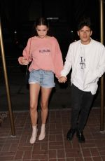 MAIA MITCHELL in Denim Shorts Arrives at Madeo Restaurant in Hollywood 05/14/2017