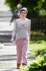 MAISIE WILLIAMS on the Set of Departures in New York 05/10/2017