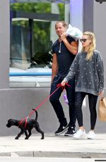 MARGOT ROBBIE Walks Her Dog Out in Los Angeles 05/18/2017\