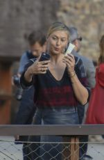 MARIA SHARAPOVA Out and About in Rome 05/14/2017