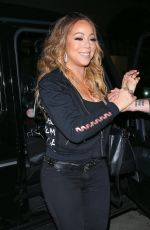 MARIAH CAREY Arrives at Mr. Chow in Beverly Hills 05/15/2017