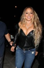 MARIAH CAREY Leaves Catch LA in West Hollywood 05/20/2017