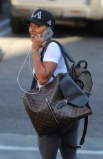 MEAGAN GOOD Out and About in West Hollywood 05/03/2017